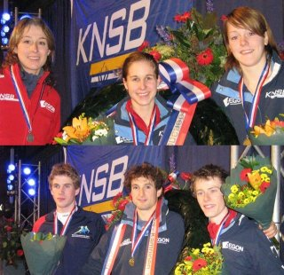 The medal-winners Ladies and Men.  Photo: Norbert van Riel